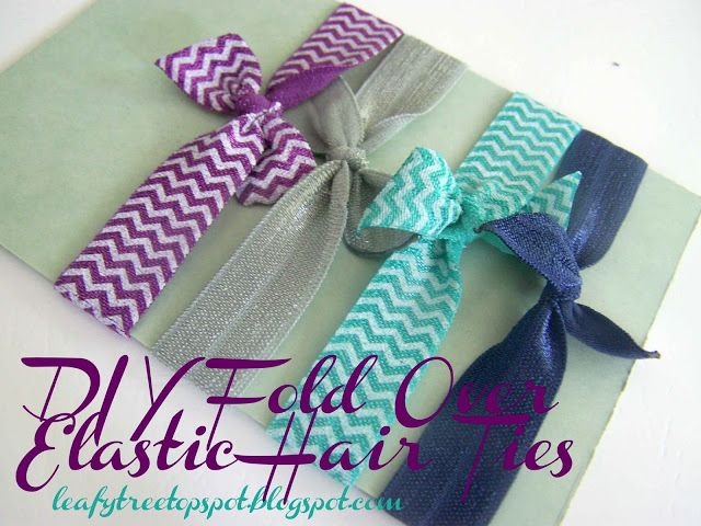 Made by Me. Shared with you.: Tutorial: DIY Fold Over Elastic Hair Ties