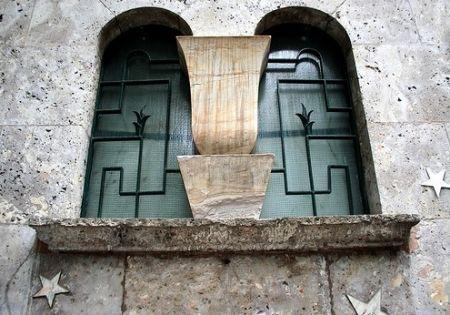 Window detail of Planetario Ulrico Hoepli, Milano, designed by Piero Portaluppi, 1929-30