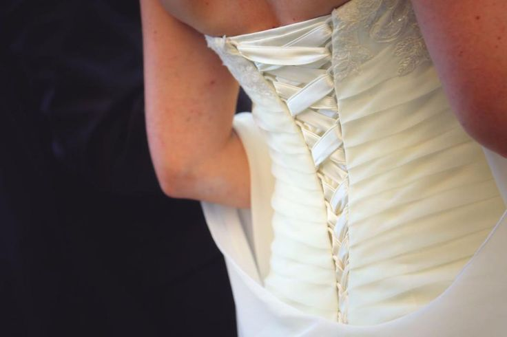 Alles für die Hochzeit - Schönes Hochzeitskleid von Lohrengel Größe 38 Farbe ivory