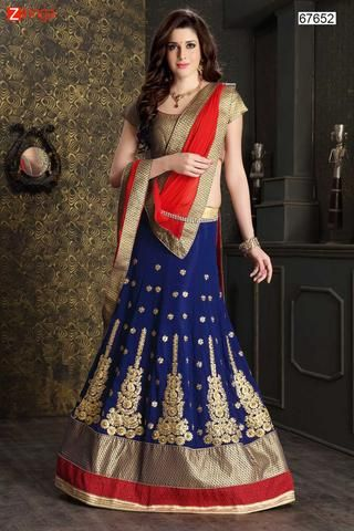Women's Georgette Fabric & Royal Blue Pretty Circular Lehenga Style With Lace Work Dupatta #Zinngafashion #Lehengas  #Pretty #Special #Offers #Happy#Shopping #Indianwear   #LatestTrend #Womenswear #Designwear #Nice #Picoftheday #Wonderful