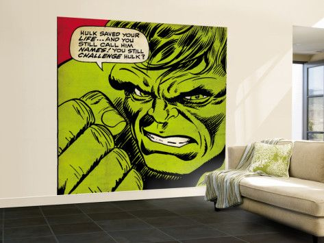 Marvel Comics Retro: The Incredible Hulk Comic Panel (aged) Wall Mural – Large at AllPosters.com