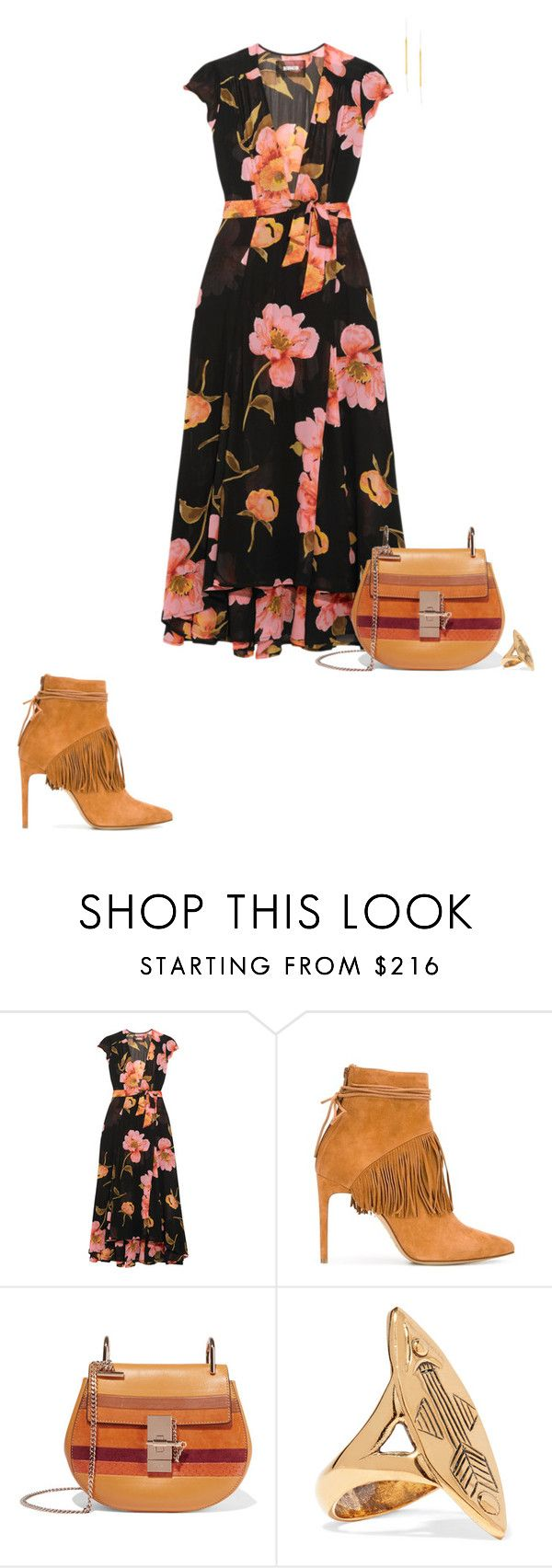 """Untitled #1416"" by biancateicu ❤ liked on Polyvore featuring Reformation, Bionda Castana, Chloé and Maya Magal"