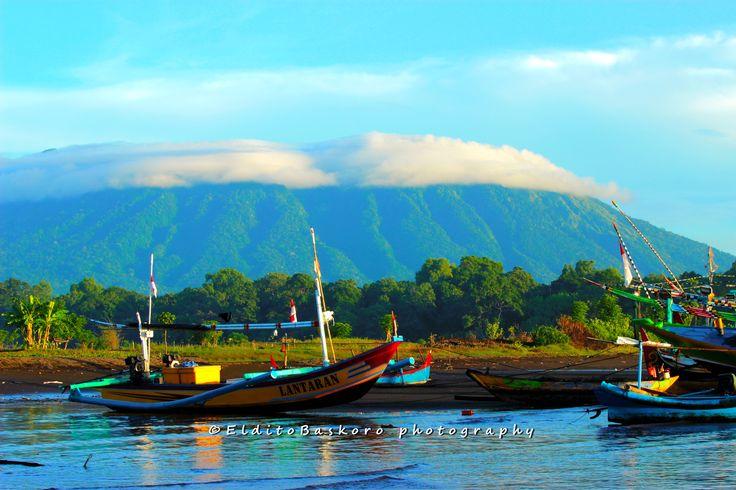 Mount Baluran from Pandean beach