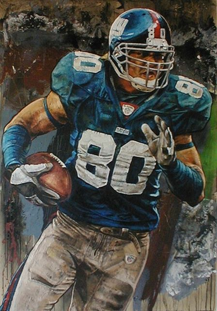 Jeremy Shockey of the NY Giants by Stephen Holland.