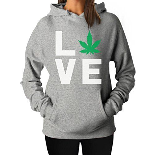 Love Weed - Cannabis Ganja Marijuana Smokers Gift for Weed Day Women Hoodie - 420 Shop