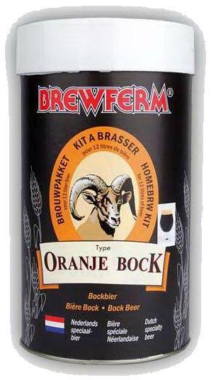 Brewferm Oranje Bock  Bere bock de culoare maro inchis, cu o placuta nota amara. O bere de toamna. Incercati-o chair acum. A se servi rece!  Greutate kit - 1.5 kg Pentru 12 litri de bere ABV - aprox.6% Densitate la inceput - 1054 Densitate la final - 1010 Durata de fermentare - 7 zile Durata conditionare la sticla - 4 saptamani Zahar pentru fermentare - 500 g  Zahar pentru imbuteliere - 72 g