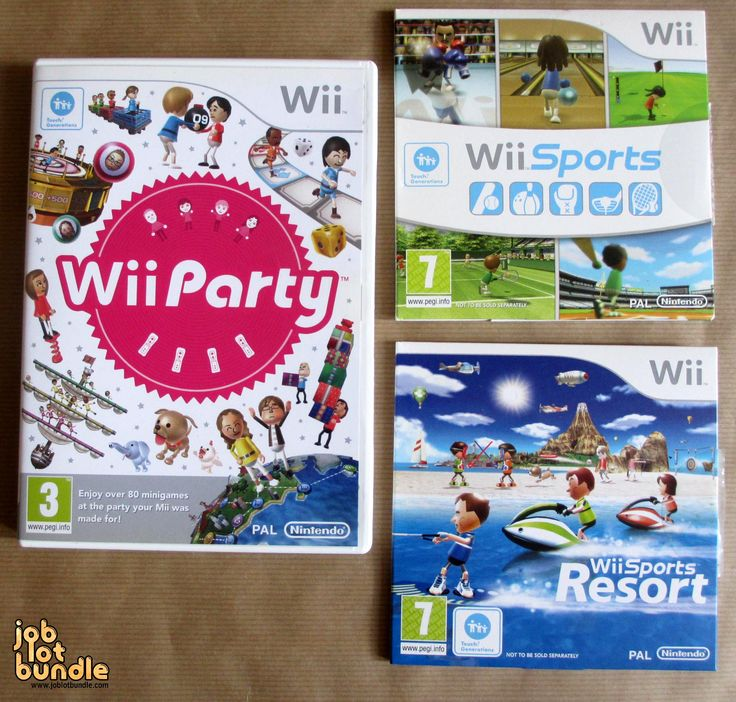 Nintendo Wii Mii Game Bundle Wii Sports Wii Sports Resort Wii