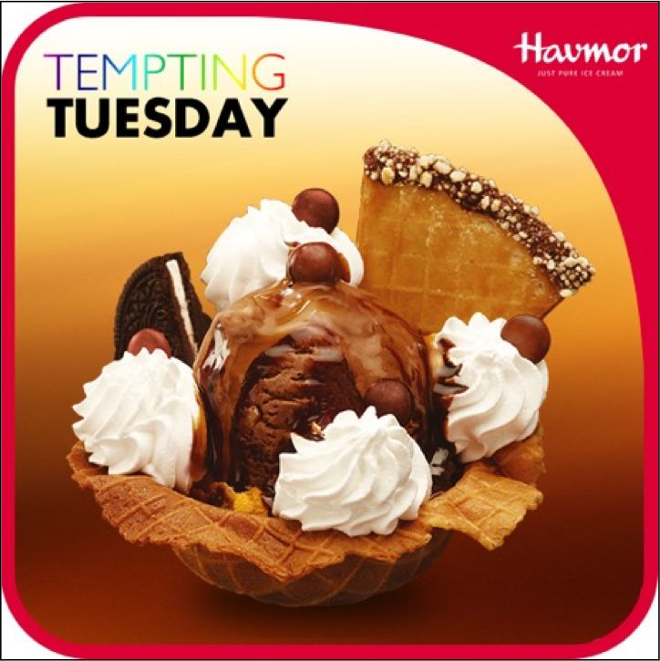 Indulge in your heart's guilty pleasures of Swiss Sensation & celebrate this #TemptingTuesday with Havmor!