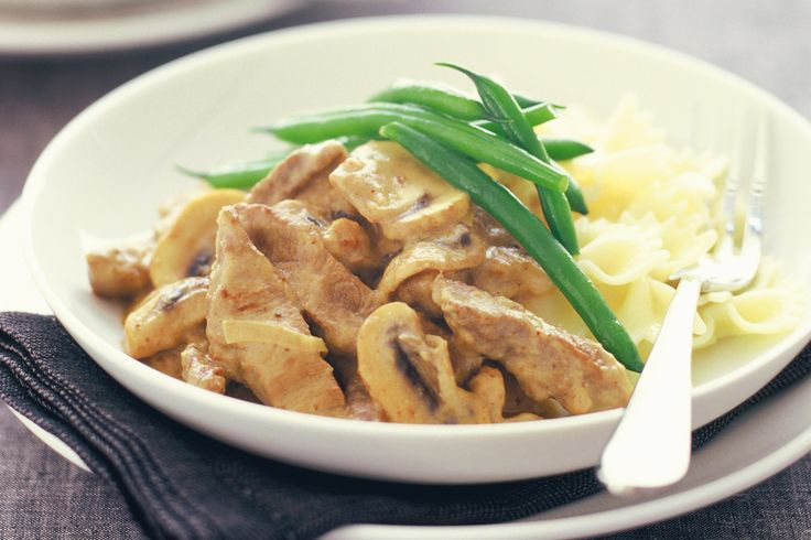 A low-fat and tasty version of classic beef stroganoff.