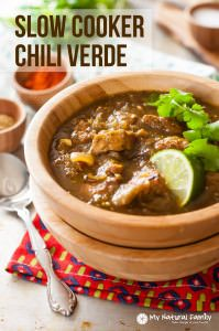 Crock Pot Chili Verde Recipe {Paleo, Clean Eating, Gluten Free, Dairy Free} - My Natural Family
