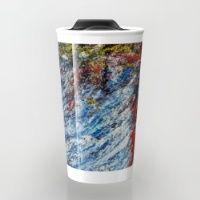 Water Travel Mug Make your mornings less of a drag, with brightly coloured, and brilliantly patterned travel mugs.