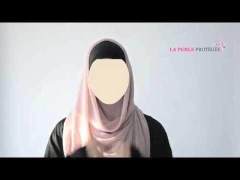 2 Hijab Tuto' - Foulard carré - La Perle Protégée - YouTube