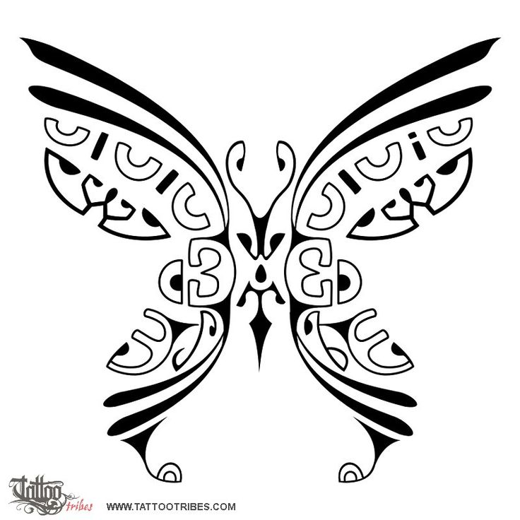 Marquesan butterfly Ilaria requested a Marquesan styled butterfly for her back, hiding two letters. We placed them one on each wing, to symbolize how these two people complete each other and how they can fly only when together. The butterfly is a symbol of rebirth and beauty. The motifs we used in this design were originally used in the Marquesas for women´s hand tattoos.