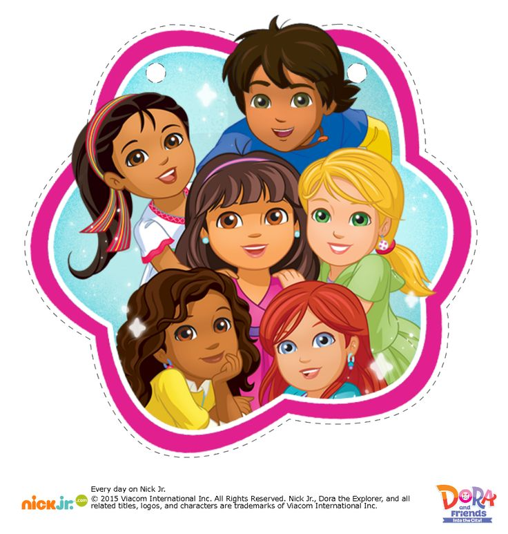 Dora The Explorer And Friends Favor Bags