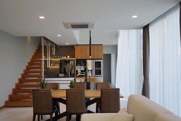 First Floor Interior Open Space With Small Kitchen Interior