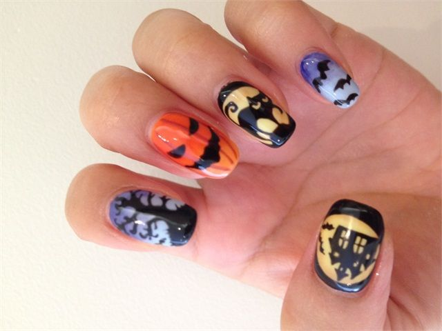 Celebrate Halloween in style with this Haute Halloween nail art tutorial from @NailsMagazine