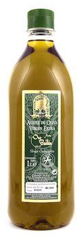 Aceite de oliva virgen extra oro de bailén en formato de 1 Litro.
