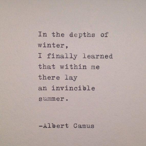 Albert Camus Handtyped Zitat
