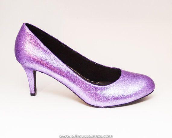 Etsy - Paillettes lavande talons violet pompes chaussures personnalisées