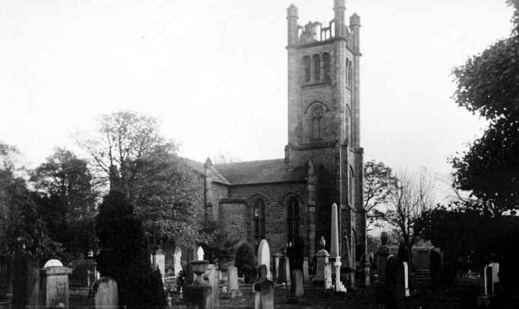 Old photograph of Cockpen and Carrington Parish Church near Bonnyrigg, Scotland