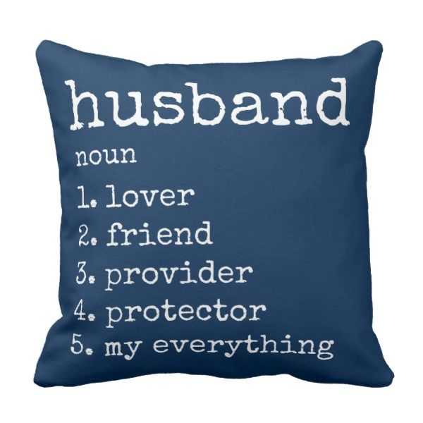 Husband Definition Anniversary Gift Pillow Adorable Decorative Throw Pillow Just For Your Lovi Romantic Gifts For Him Anniversary Gifts Presents For Boyfriend