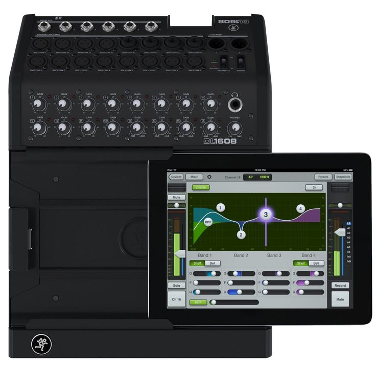 Mackie DL1608 16-Channel iPad Digital Pro Audio Mixer