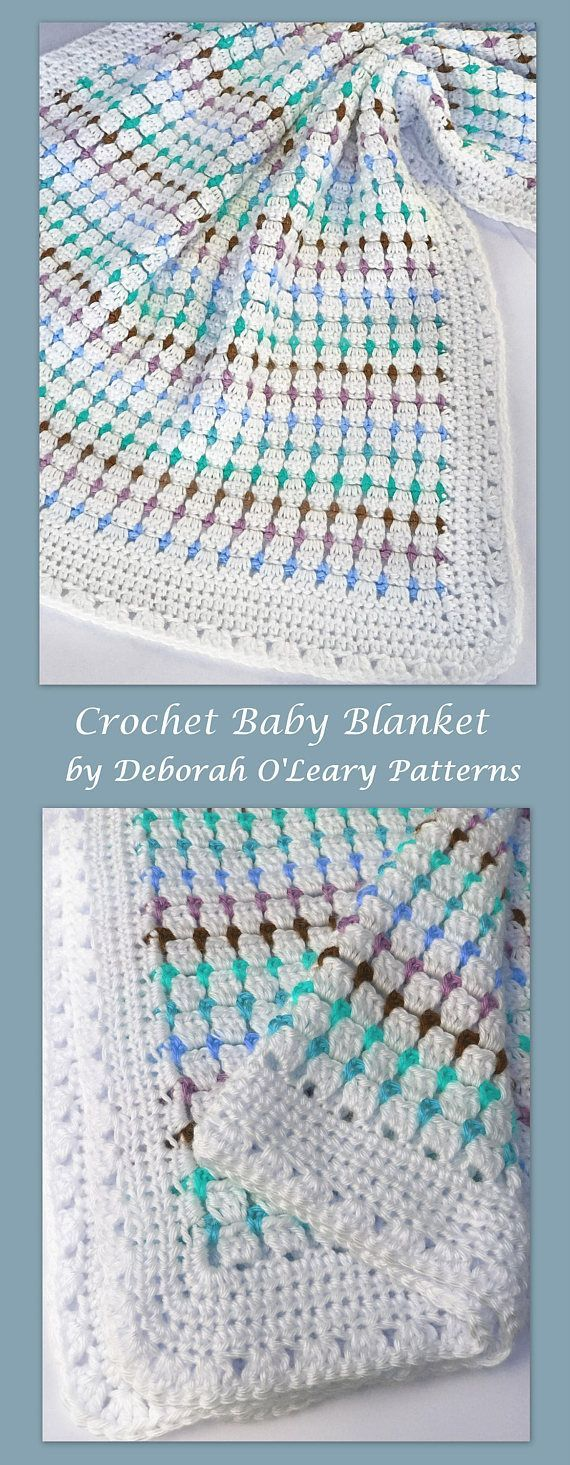 Crochet Baby Blanket Pattern by Deborah O'Leary Patterns #crochet #baby #blanket #patterns #easy