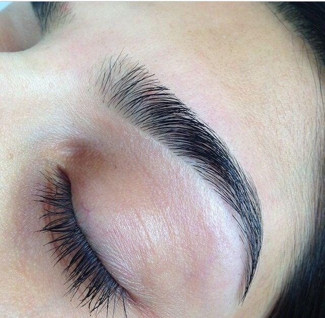 Such beautiful eyebrows. Natural and thick but threaded . LOVE so much