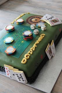 lekker zoet: Casino-roulette taart....
