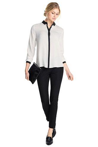 Esprit / Fließende Bluse mit Farbkontrasten