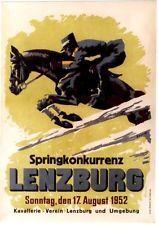 Original vintage poster SWISS HORSE RACES LENZBURG 1952