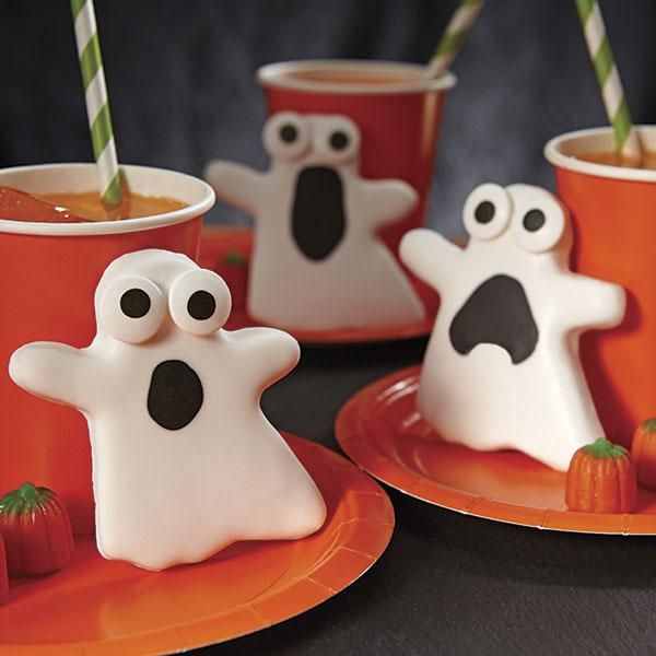 its scary how easy these ghost cookies are to make using the ghost cutter from the wilton halloween grippy cutter set scare up some smiles by slipping