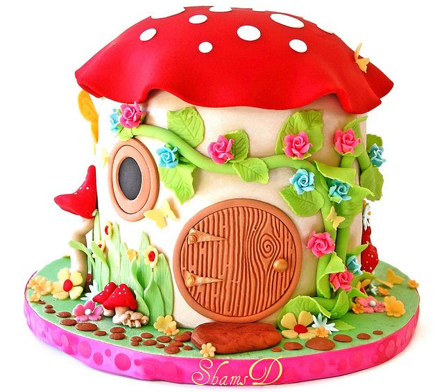 Toadstool House Cake by ~ShamsD~, via Flickr