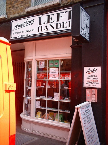 Anything Left Handed - Front View - I want to go to this store so bad! I shop on their Internet site all the time!