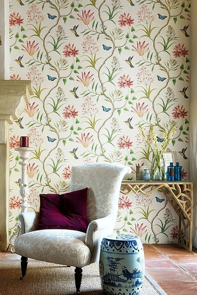 15 Gorgeous But Subtle Wallpaper Prints That Won T Make You Dizzy Just Looking At Them Wall Art Decor Living Room Wallpaper Bedroom Vintage Flowers Wallpaper