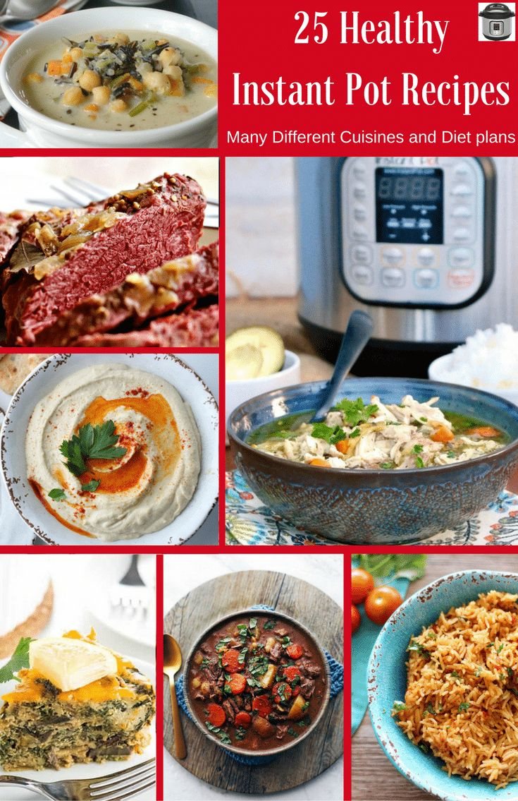 25 Healthy Instant Pot Recipes. If you are ready to start out the New Year with some healthy recipes and you are itching to use that new Instant Pot, then look no further! This line up of 25 Instant Pot recipes will keep you cooking healthy meals in your instant pot all month long!#instant pot #recipes #healthyrecipes #glutenfree #whole30recipes #paleo #vegan #healthyfood #easycooking...Read More