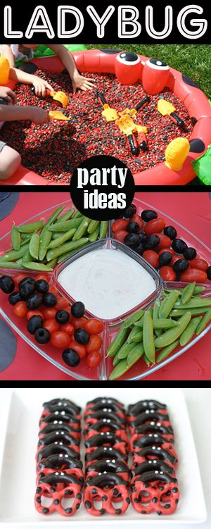 Ladybug Party Ideas Because there's just GOT to be some reason for me to throw a Ladybug Party someday!! (: