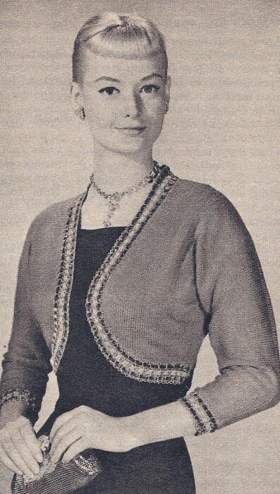 Vintage Bolero Shorty Jacket Knitting Pattern