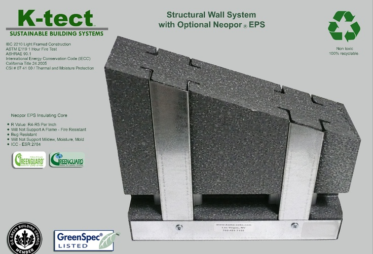 Neopor Insulation In Steel Stud Wall Construction
