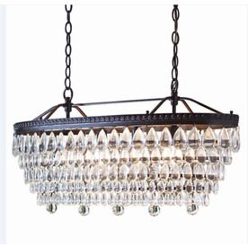 allen   roth�4-Light Oil-Rubbed Bronze Crystal Chandelier