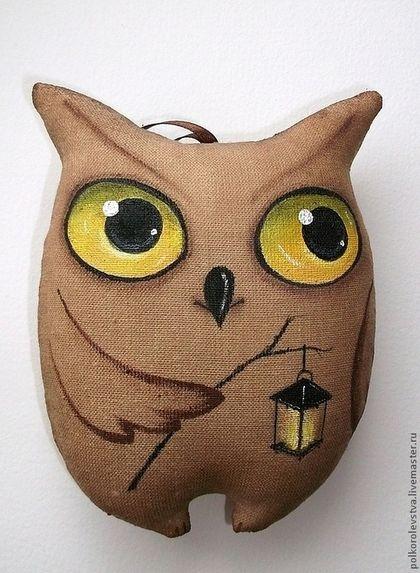 Ночная хранительница леса - бежевый,ароматизированная игрушка,кофейная игрушка