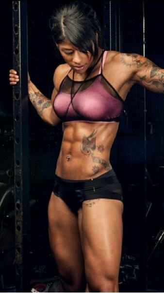"""RIPPED SIX-PACK ABS of tattooed #Fitness model Massiel """"Manokofit"""" Arias : if you LOVE Health, Exercise & #Fitspiration - you'll LOVE the #Motivational designs at CageCult Fashion: http://cagecult.com/mma"""