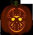 Jason Voorhees pumpkin pattern - Friday the 13th - Pumpkin Carving Patterns and Stencils - Zombie Pumpkins!