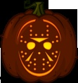 Jason Voorhees pumpkin pattern - Friday the 13th - Pumpkin Carving Patterns and Stencils - Zombie Pumpkins!