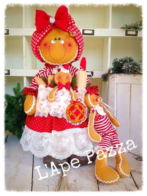 Cartamodelli ginger Natale 2015 : Gingerina Mirtilla fermaporte