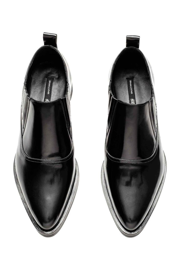Pointed leather shoes - Black - Ladies | H&M GB