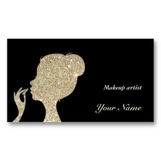 Sparkles & Glitter makeup artist Business Card