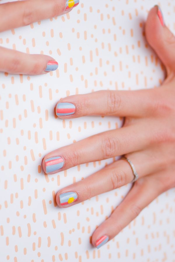 A summer inspired nail art tutorial #nailart #summernails #naildesigns #nailswag…