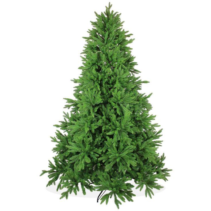 Künstlicher Weihnachtsbaum 240cm DeLuxe PE Spritzguss, grüner Tannenbaum Nordmanntanne, Christbaum