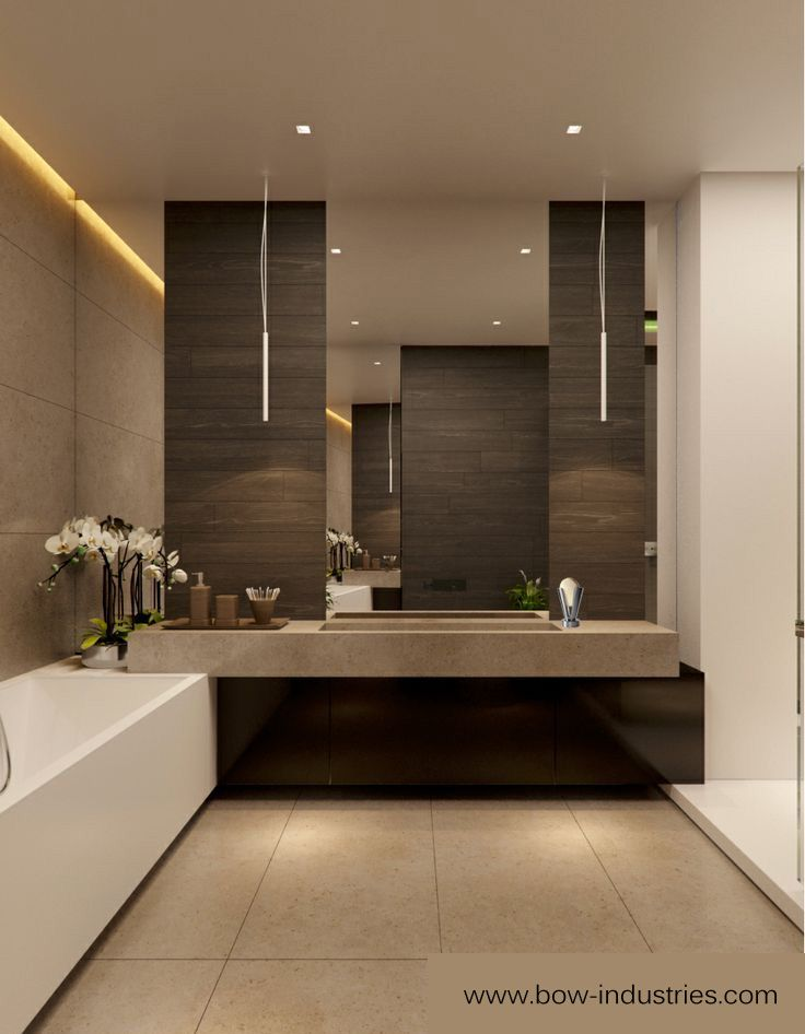 Best 25 modern contemporary bathrooms ideas on pinterest - Modern bathroom decorations ...
